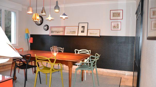 maison déco rouge et noire - 1 - geraldine fourny - decoratrice - Rezé - 44
