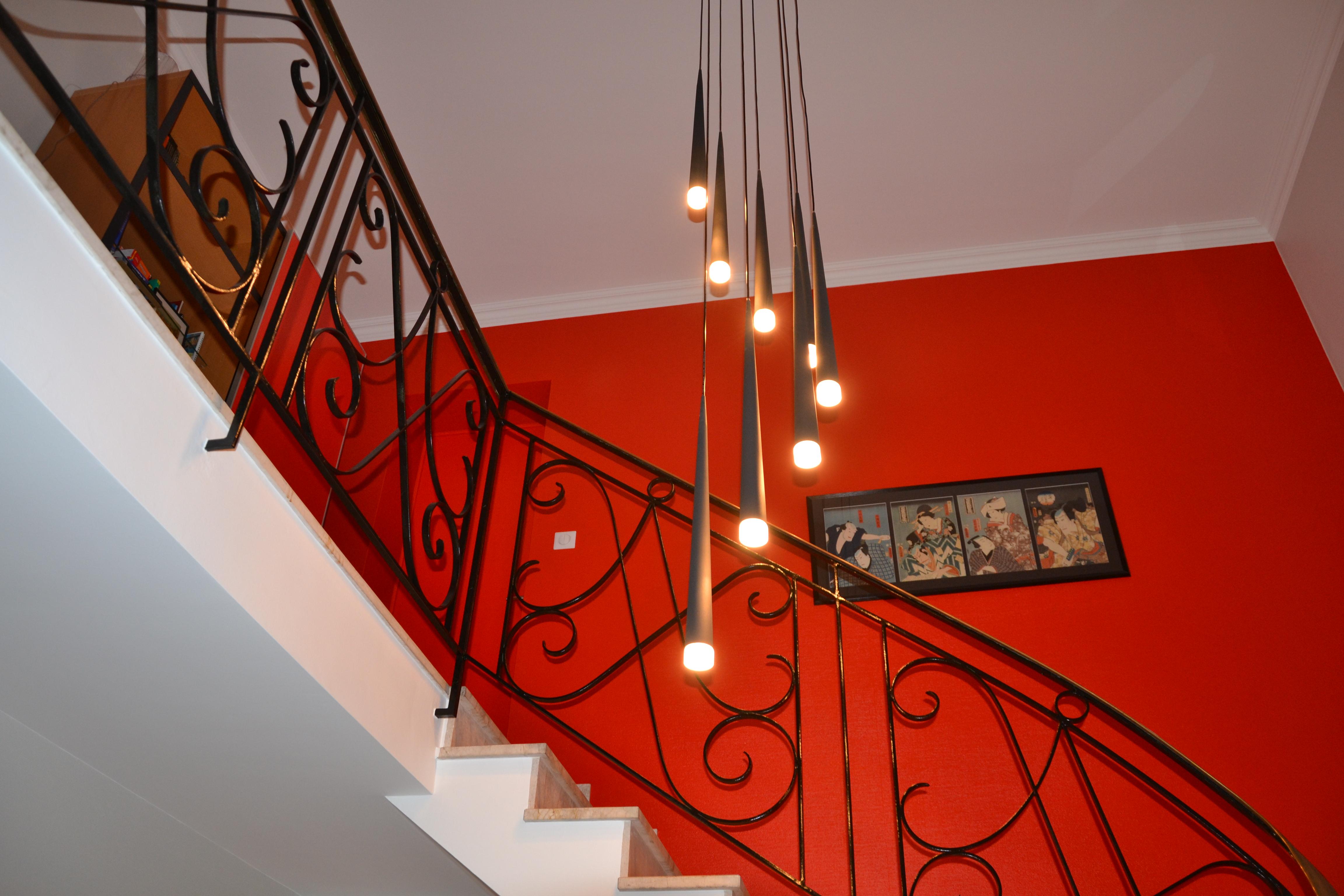 maison déco rouge et noire - 10 - geraldine fourny - decoratrice - Rezé - 44