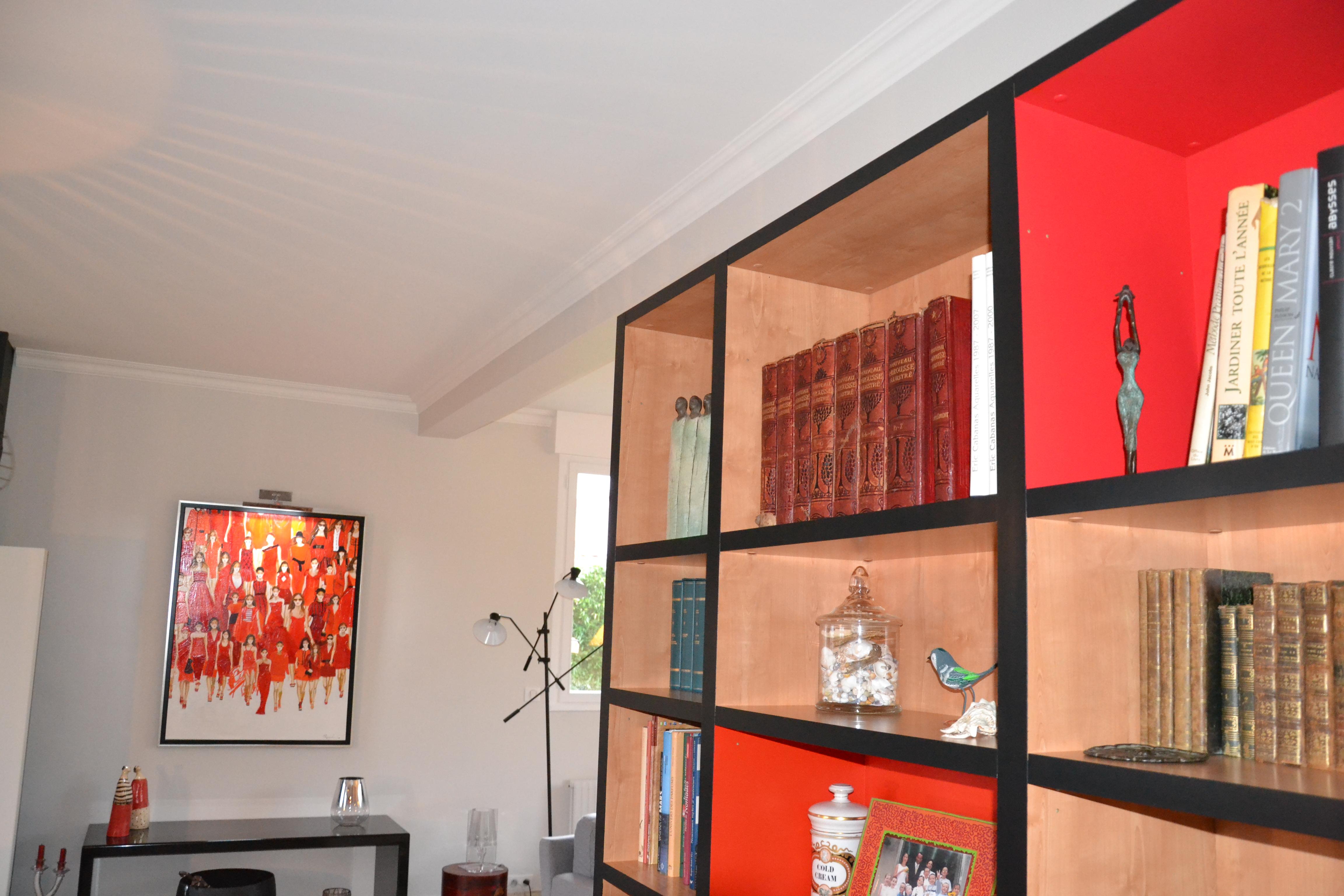 maison déco rouge et noire - 11 - geraldine fourny - decoratrice - Rezé - 44