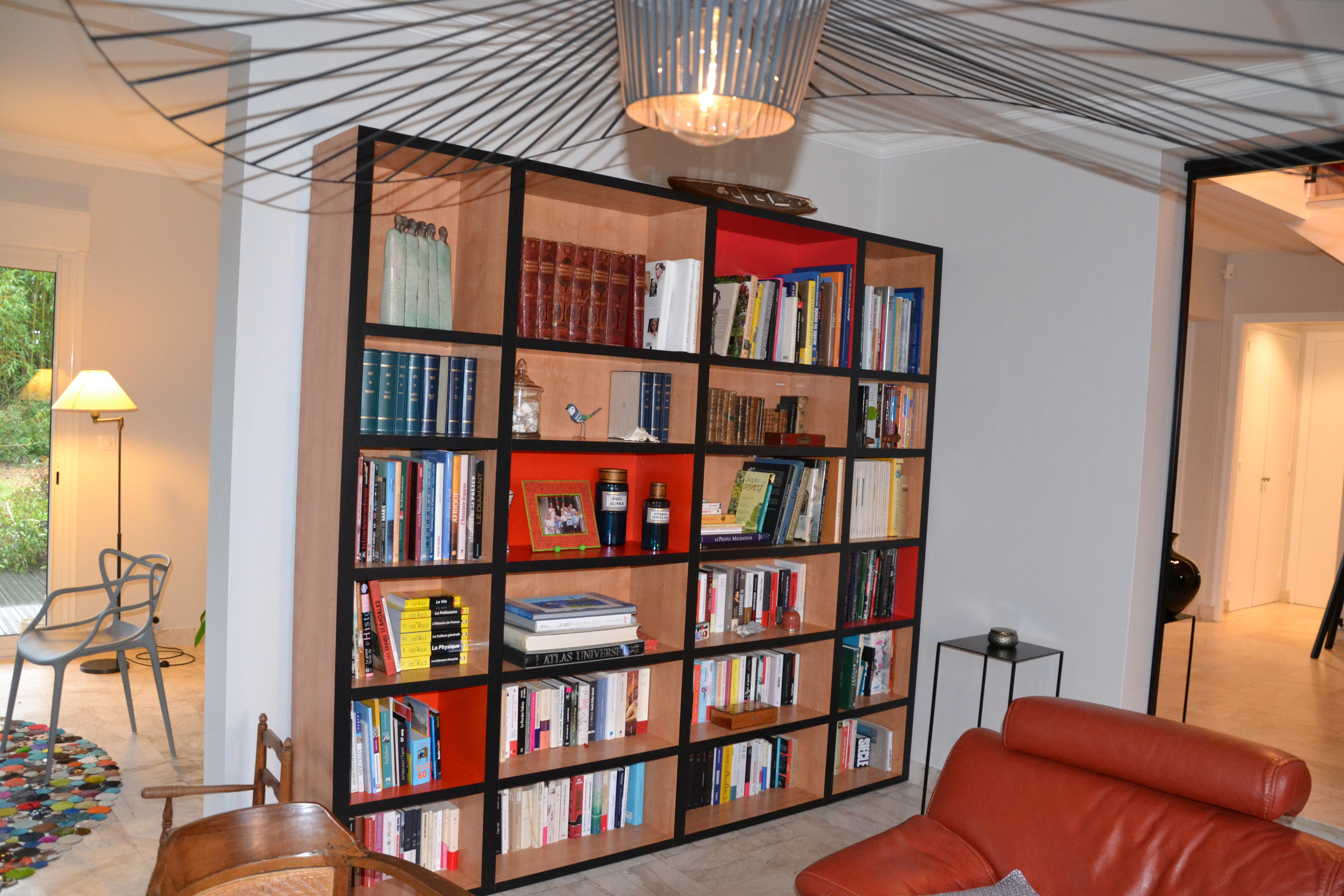 maison déco rouge et noire - 12 - geraldine fourny - decoratrice - Rezé - 44