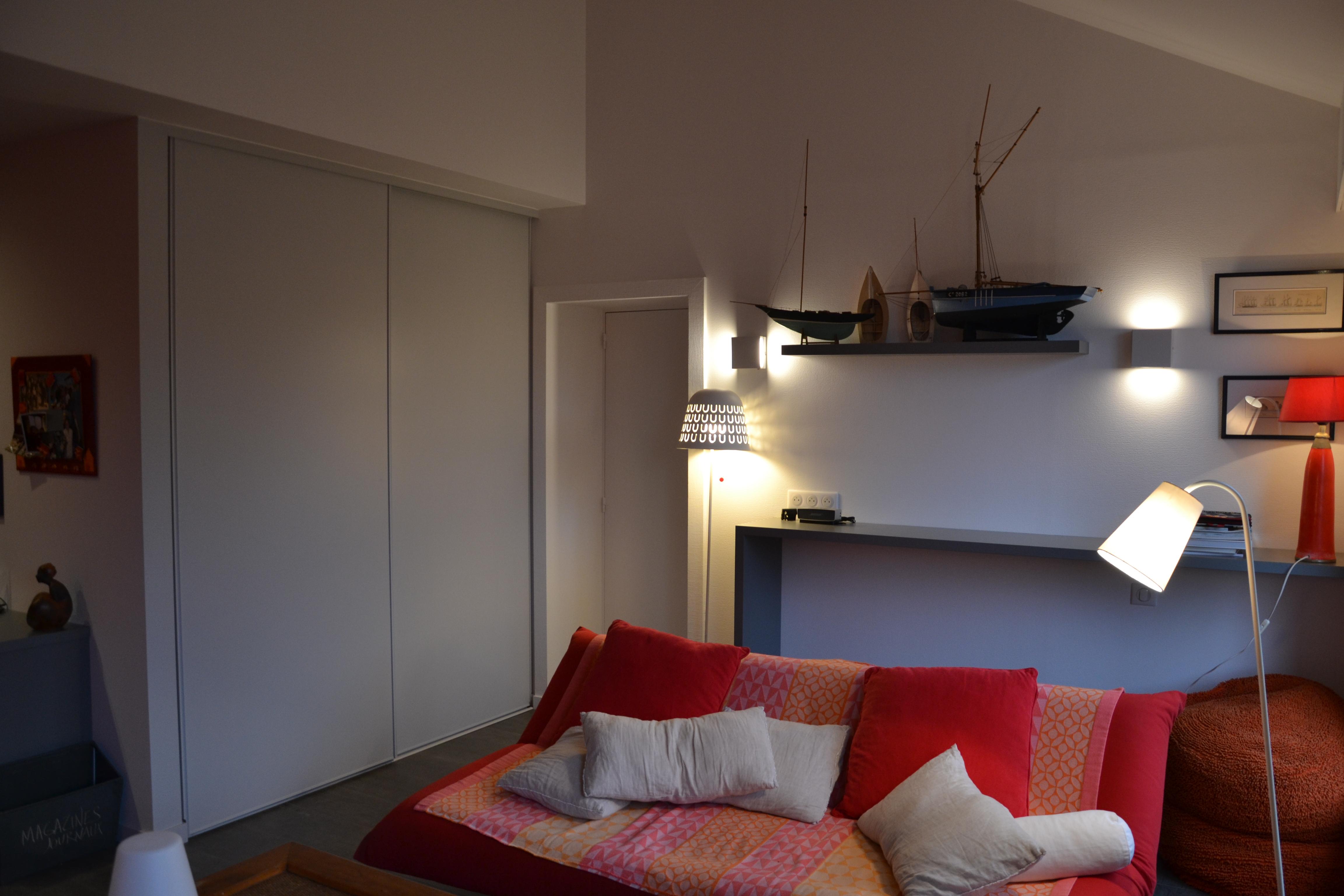 maison déco rouge et noire - 5 - geraldine fourny - decoratrice - Rezé - 44
