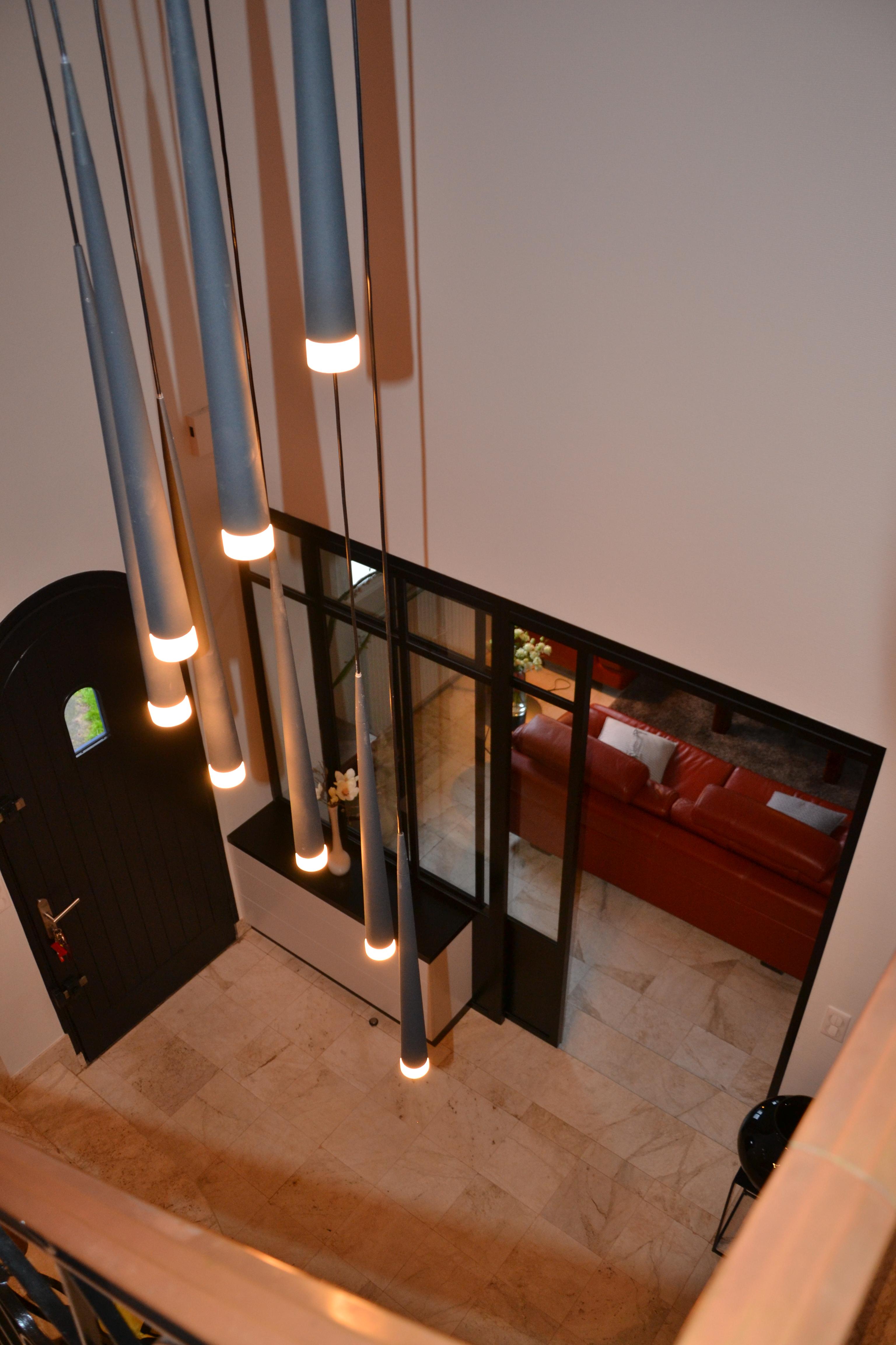 maison déco rouge et noire - 9 - geraldine fourny - decoratrice - Rezé - 44